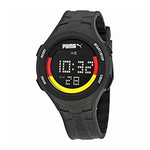 PUMA Herren Digital Quarz Uhr mit Plastik Armband PU911301012