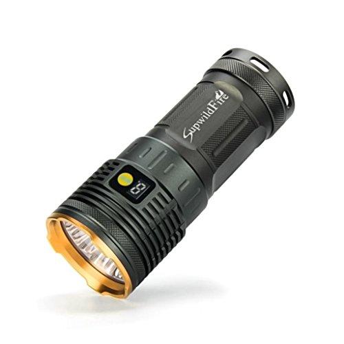DOGZI Supwildfire 55000LM 18 x XM-L T6 LED Power & Modus Digitalanzeige Jagd Seach Taschenlampe (Gold)