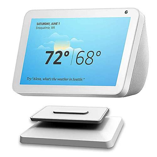 Kiner - Soporte para Echo Dot 4ª generación Wall Mount Hanger Holder Poour Dot de 3ª generación, Echo Show 5/8 Stand, altavoz Bluetooth inteligente Alexa Stand (Echo Show 8), color blanco