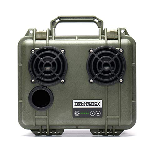 DemerBox: Waterproof, Portable, and Rugged Outdoor Bluetooth Speakers. Loud Sound, Deep Bass, 40+ hr Battery Life, Dry Box + USB Charging, Multi-Pairing Party Mode. Built to Last