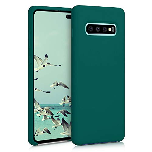 kwmobile Funda Compatible con Samsung Galaxy S10 Plus - Funda Carcasa de TPU para móvil - Cover Trasero en Verde Cian