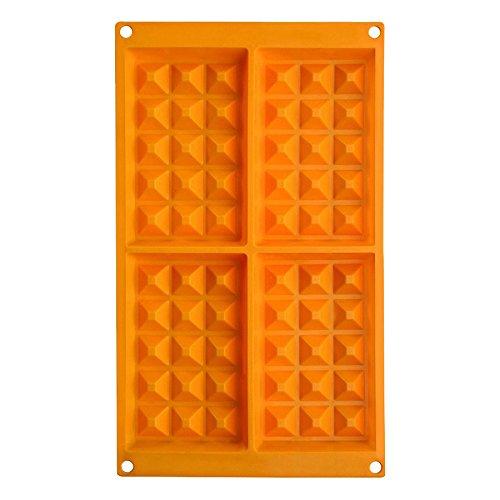 IBILI 873100 Moule Gaufres, Silicone, Orange, 30 x 18 x 2 cm