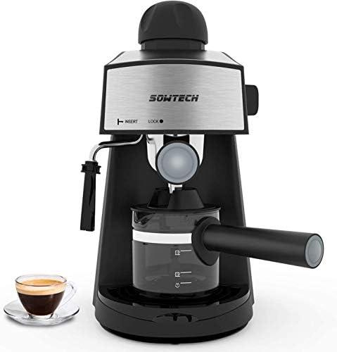 Espresso Machine 3 5 Bar 4 Cup Espresso Maker Cappuccino Latte Machine with Steam Milk Frother product image
