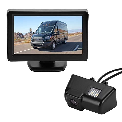 BRAUTO Ccd 10,9Cm Monitor Kit Telecamera Retromarcia per Ford Transit connect