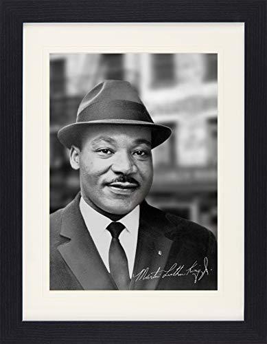 1art1 Martin Luther King Jr. - Portrait 1964 Gerahmtes Bild Mit Edlem Passepartout | Wand-Bilder | Kunstdruck Poster Im Bilderrahmen 40 x 30 cm