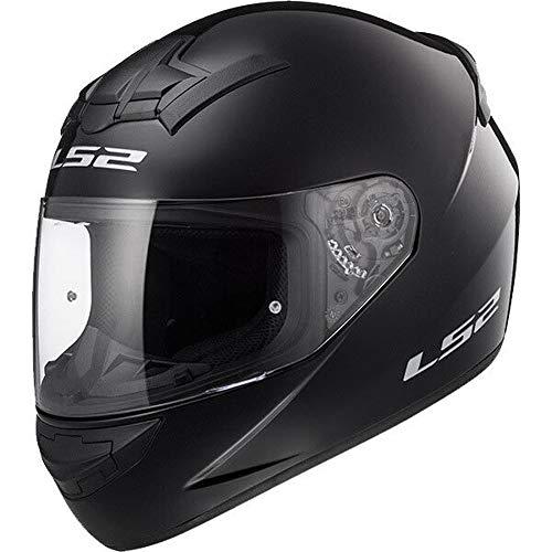 LS2 FF351 Single Mono - Motorrad-Helm - Integralhelm - leicht - Schwarz - XS