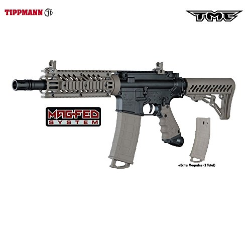 Tippmann TMC MAGFED Paintball Marker - Black/Tan