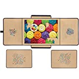 Jigsaw Puzzle Board Portable Puzzle Mat, Store and Transport Jigsaw Puzzles Up to 1000 Pieces, Non-Slip Flannelette Surface, Lightweight, 23' x 32'