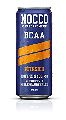 NOCCO BCAA Drink inkl. Pfand - Geschmacksrichtung Pfirsich - No Carbs Company Fitness Drink