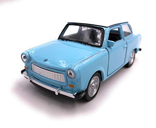 H-Customs Trabant Trabi Modellauto Auto Lizenzprodukt 1:34-1:39 Blau/weiß