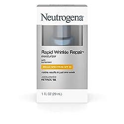 Neutrogena Rapid Wrinkle Repair Daily Hyaluronic Acid Retinol Face Moisturizer, Anti Wrinkle Face Cr