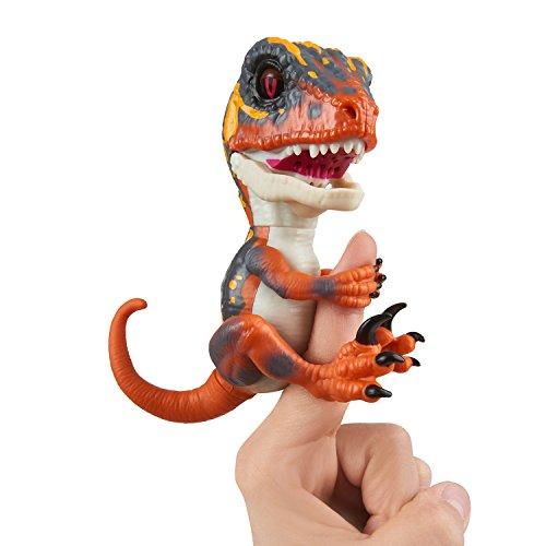 Untamed Raptor by Fingerlings - Blaze (Orange) - Interactive Collectible Baby Dinosaur...