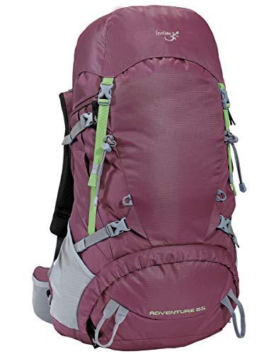 Freetime Sac à Dos 10 à 50 L- Adventure -Violet- Sac 55 L- pour randonnée de 1 à Plusieurs Jours