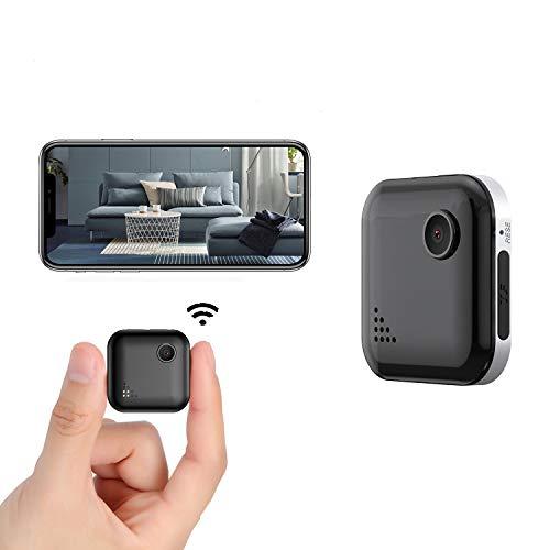 Mini Spy Camera WiFi 1080P Wireless Hidden Camera, Spy Cam Nanny Cam Audio Record Live Streaming, Small Surveillance Camera Night Vision Motion Detection for Home/Security/Car (with Phone APP)