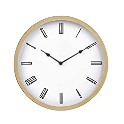AmazonBasics 12 Roman Wall Clock - Brass
