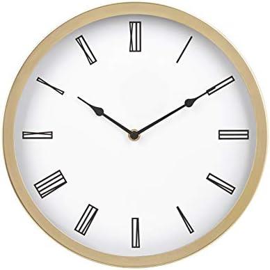 "Amazon Basics 12"" Roman Wall Clock, Black"