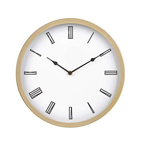 AmazonBasics - Reloj de pared romano, 30,5 cm, latón