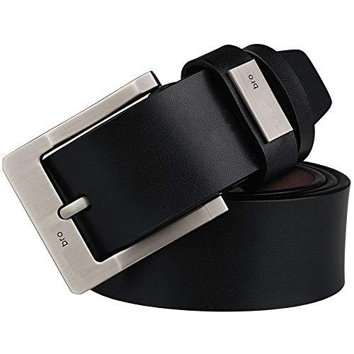 longhua Cinturón de Cuero de Cuero de Vaca cinturón de Hombres Regalo de San Valentín más el tamaño del cinturón Pin Buck