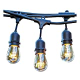 Guirlande lumineuse extérieur 10 ampoules à filament vintage douille E27 LED blanc chaud MAFY LIGHT 6m
