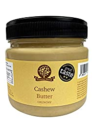 ABSOLUTE PURITY: Single ingredient, 100% roasted cashews.No added sugar, sweetener, salt or oil (of ANY kind).simply nothing added! DELICIOUS: Creamy paste with added pieces of broken cashews, mildly sweet and aromatic. A Great Taste Award winning pr...