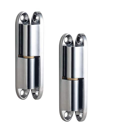 WJMY Renovierband Zimmertür Türband Aufschraubband Scharnier Türscharnier mit wartungsfreier Gleitlagertechnik für Innentüren zum Aufschrauben 14x80 mm 2 Stück - Aufschraubband Stahl verzinkt