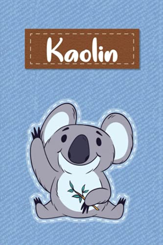 Kaolin: Lined Writing Notebook for Kaolin With Cute Koala, 120 Pages, 6x9