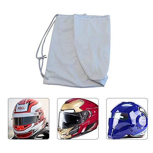 Aiohdg Motorradhelmtasche, Super Soft Short Plüsch Lagerung Tragetasche Motorrad-Sturzhelm Draw String Bag