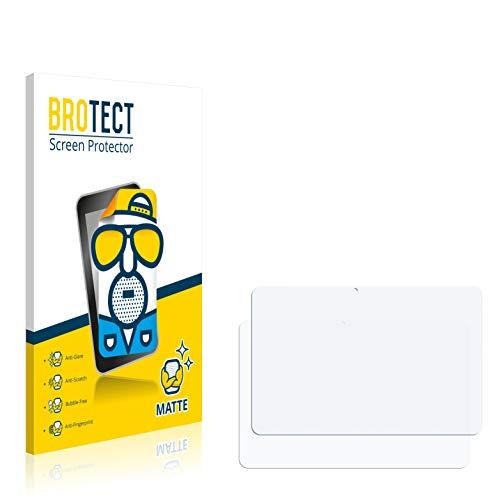 BROTECT 2X Entspiegelungs-Schutzfolie kompatibel mit Wortmann Terra Pad 1003 Bildschirmschutz-Folie Matt, Anti-Reflex, Anti-Fingerprint