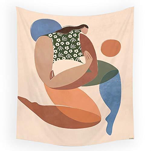 KHKJ Tapiz de Pared de la Serie Animal nórdico INS Tapiz Colgante de Tela de Fondo decoración de Boho Tapiz de Tela de Pared A1 150x130cm