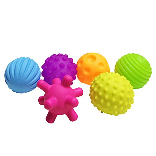 Baby Ball Spielzeug, bunte Hand Sensory Ball mit Soundeffekt Early Developmental Spielzeug für Kinder 4 Stück/6 Stück