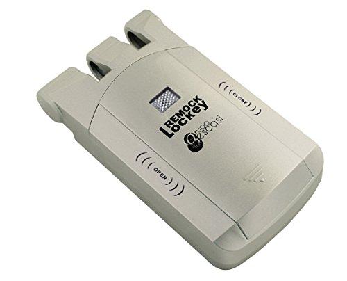 Remock Lockey RLK4G Cerradura de seguridad invisible con 4 mandos, 3 V, Dorado