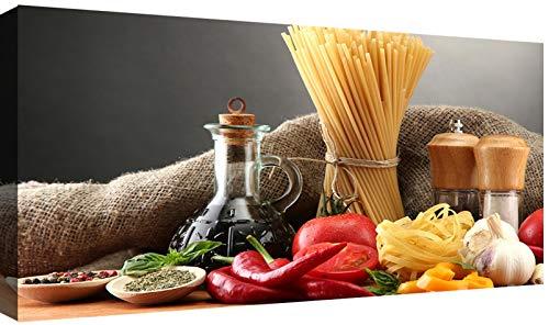 Canvashop Quadri moderni Pasta cm 100x50 Stampa su tela canvas Quadro Cucina Ristorante Pizzeria Bar Pub Enoteca Hotel Soggiorno