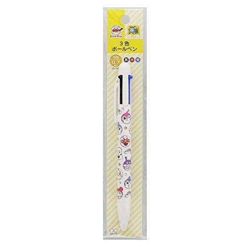 サンスター文具アンパンマンスマイルプラス3色ボールペン0.7mmフェイス6280010A