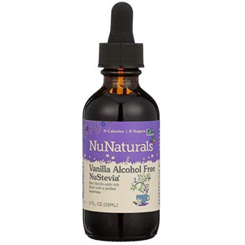 NuNaturals Plant Based Vanilla-Alcohol Free Stevia Extract Drops - All Natural Liquid Sweetener
