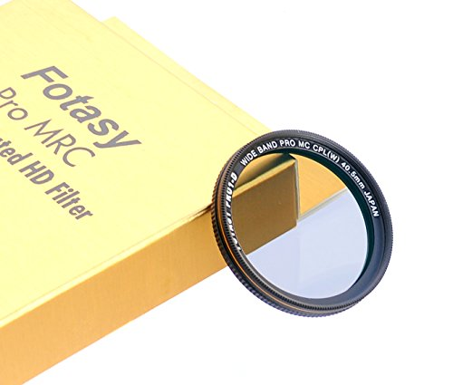 Fotasy 40.5mm Ultra Slim Circular PL Lens Filter, Nano Coatings MRC Multi Resistant Coating Oil Water Scratch, 16 Layers Multi-Coated 40.5mm CPL Filter