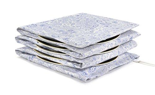 Waterbridge Electric Plate Warmer - Heats up to 15 Plates - Trinket Damask Navy