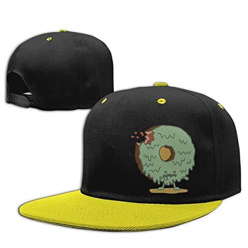 WYYCLD Fashion hat Cap Boys Girls Trucker Hat. The Zombie Donut Flat Bill Baseball Cap Hip-Hop