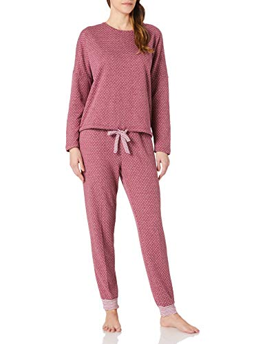 Women' Secret Pijama Largo Granate, Vino, L para Mujer