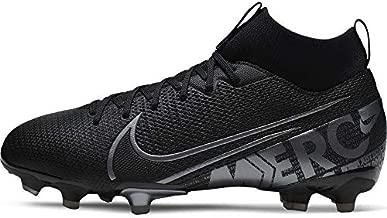 Nike Jr. Mercurial Superfly 7 Academy MG Kids' Multi-Ground Soccer Cleat (3.5, Black/Cool Grey/Metallic Cool Grey)