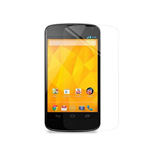 Simplecase Panzerglas passend zu LG Nexus 4 , Premium Bildschirmschutz , Schutz durch Extra Festigkeitgrad 9H , Hülle Friendly , Echtglas / Verb&glas / Panzerglasfolie , Transparent - 1 Stück