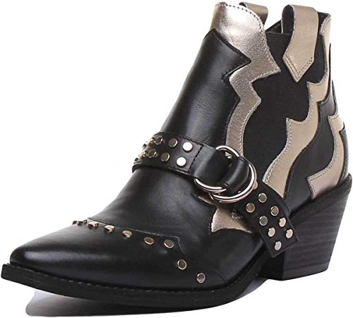 GUESS Zapatos de Mujer FL7NARLEM10 Black/Gold Botas Talla 40 Negro/Oro (Ropa)