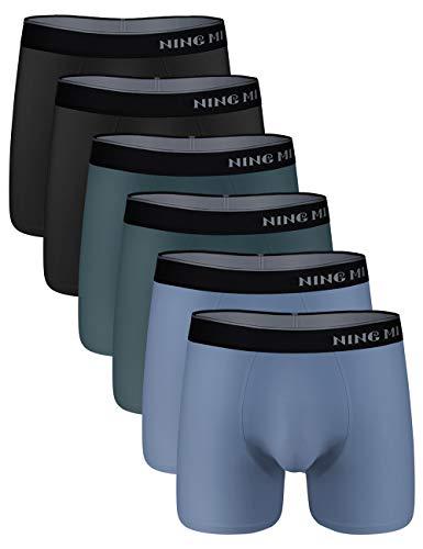NINGMI - Boxer da Uomo, Confezione da 6 Pezzi 6er Pack L