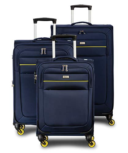 Fabrizio Trolley 3er Set District Koffer-Set, 75 cm, 70 Liter, Marineblau