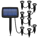 WZCXYX Luces Solares En El Suelo 10in1 Solar Garden Ligera Al...