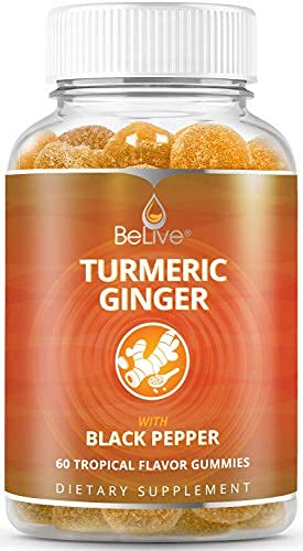 Turmeric Curcumin Gummies with Ginger & Black Pepper Extract