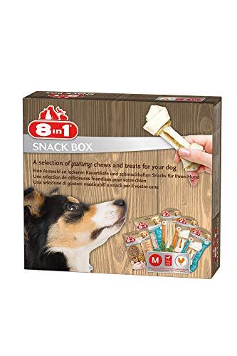 8in1 Snack-Box M für mittlere Hunde, 5 x Premium Kauartikel / Leckerli, 445 g