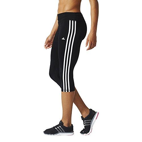 adidas Damen Tights Basic 3-Streifen 3/4 Leggings, Schwarz/Weiβ, 2XS