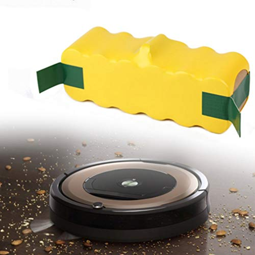 ASFD Aspiradora de batería de 4500 MAH 14.4v 500,510,530,532,535,540,550,560,570,580, R3,611 Batería Recargable de la Serie Profesional (Amarillo 4500MAH)