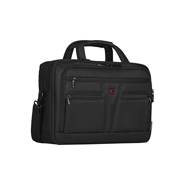 """41ivRdwjiML. SS600  - WENGER 606465 BC Star 14""""/16"""" Expandable Laptop Brief, SmartGuard Laptop Protection with a QuickAcess Tablet tocket in Black {18 litres}"""