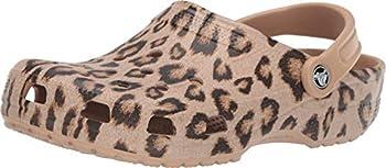 Crocs Unisex Women s and Men s Classic Animal Print Clog | Zebra Shoes Leopard/Gold 11 US